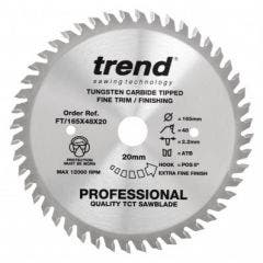 Trend Plunge Saw Blade 165x20mm 48 Tooth