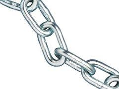 Galvanised Straight Link Chain - Sold by the Metre