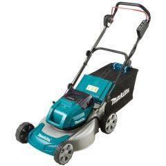 Makita DLM460Z Twin 18v Lawnmower 4x 5ah Batteries & Twin Charger
