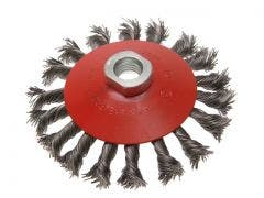 Faithfull CONICAL WIRE BRUSH 100MM X M14X2 0.5MM
