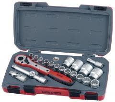 "Teng Tools 1221 1/2"" Drive Socket Set Metric - 21pc"