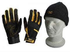 CLC Construction Gloves with Beanie Hat XMS19GLCOMBO